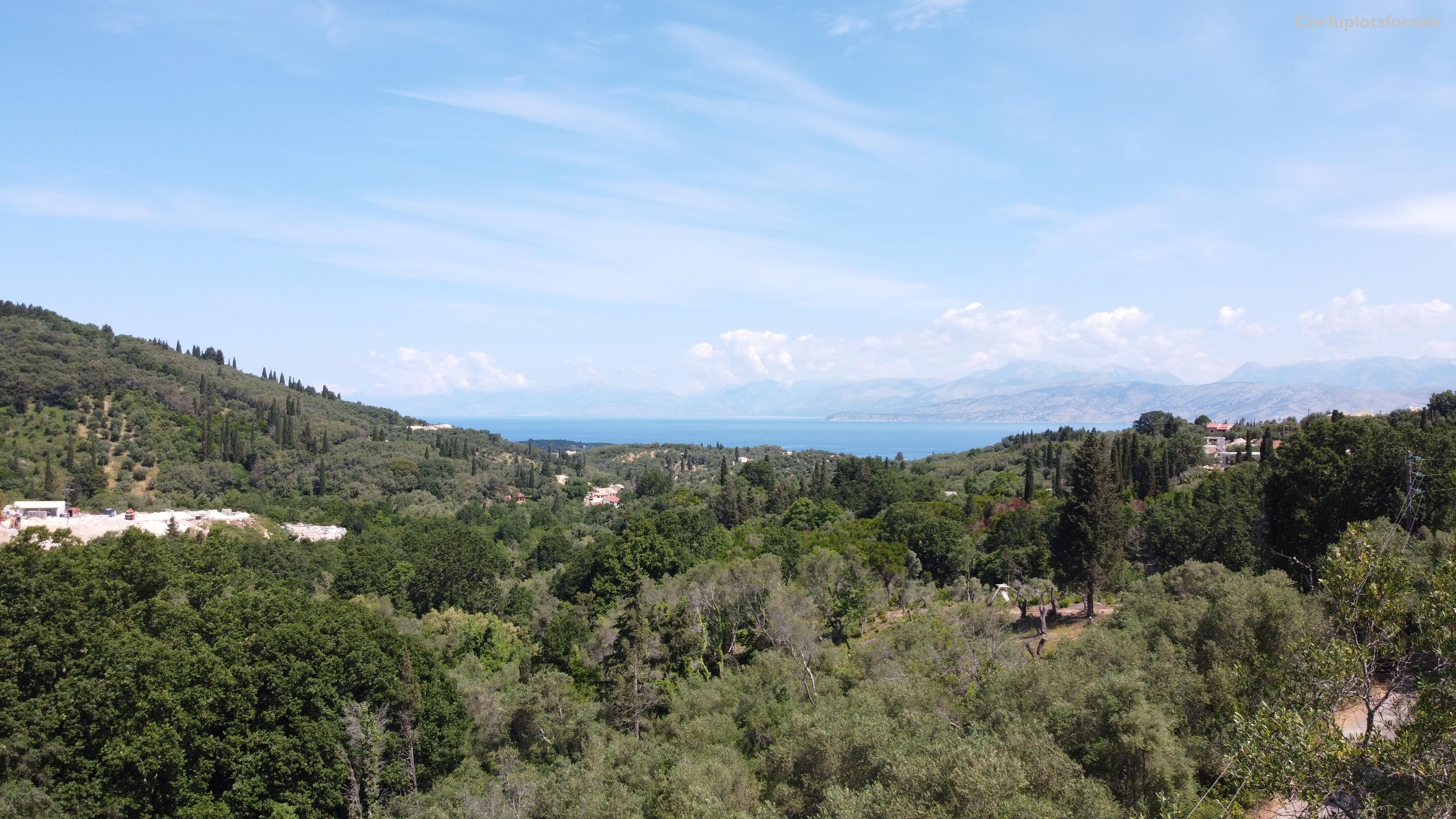 Land on a gentle slope hill with beautiful sea view