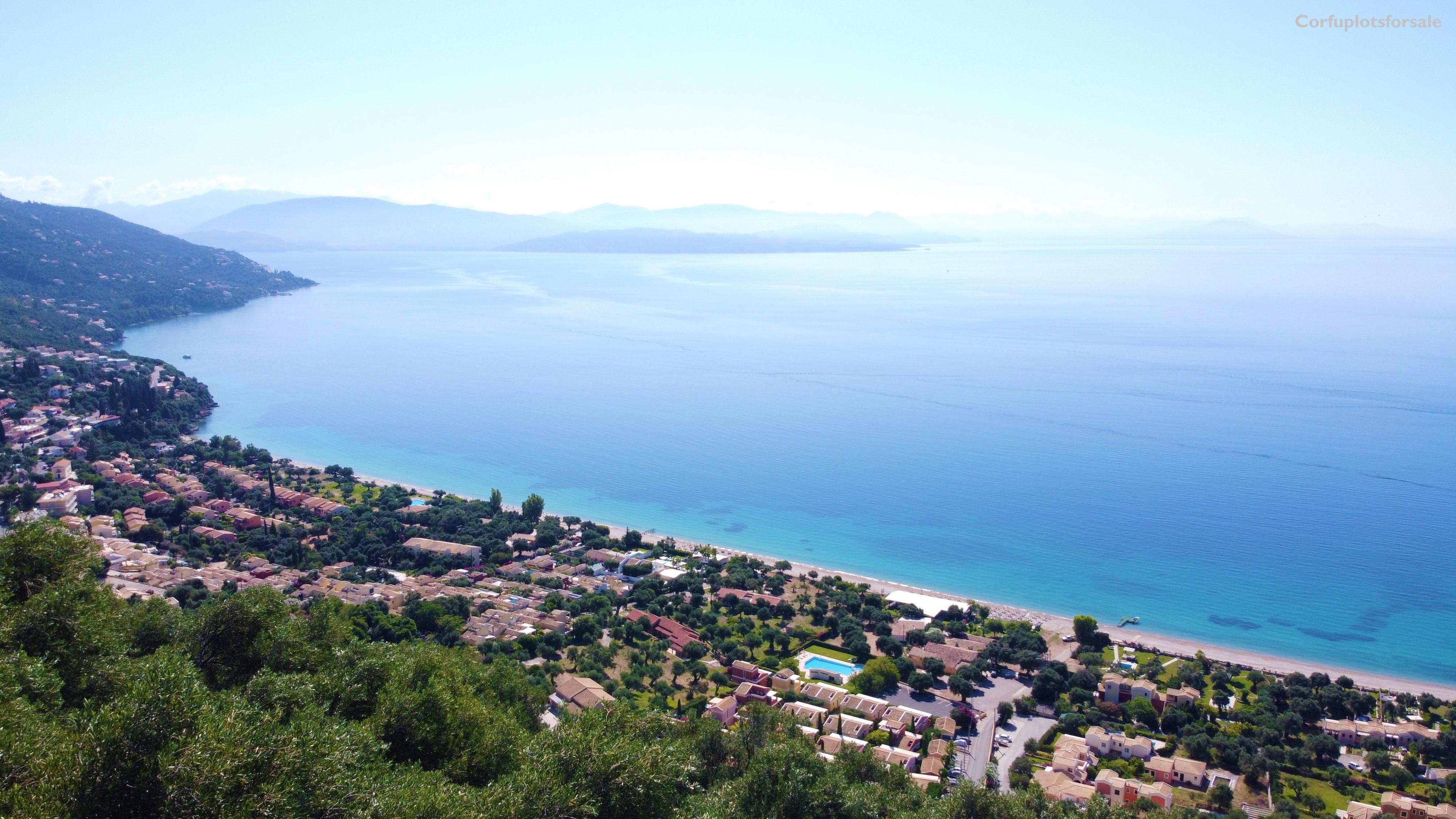Property plot with wonderful panoramic view of Barbati area