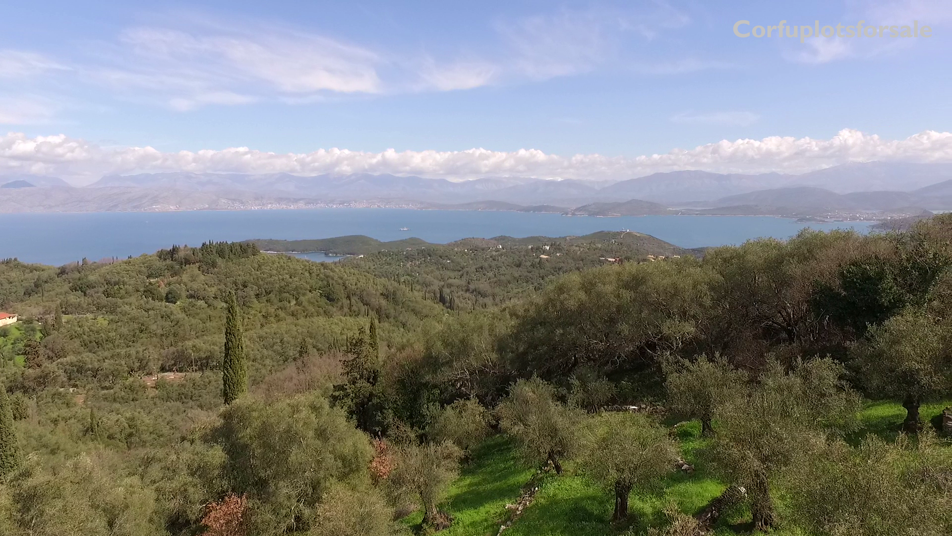 Land for sale in a quite location in Sinies, Corfu