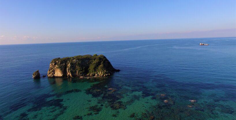 Plot on an emerald hidden beach, Sinarades, Corfu