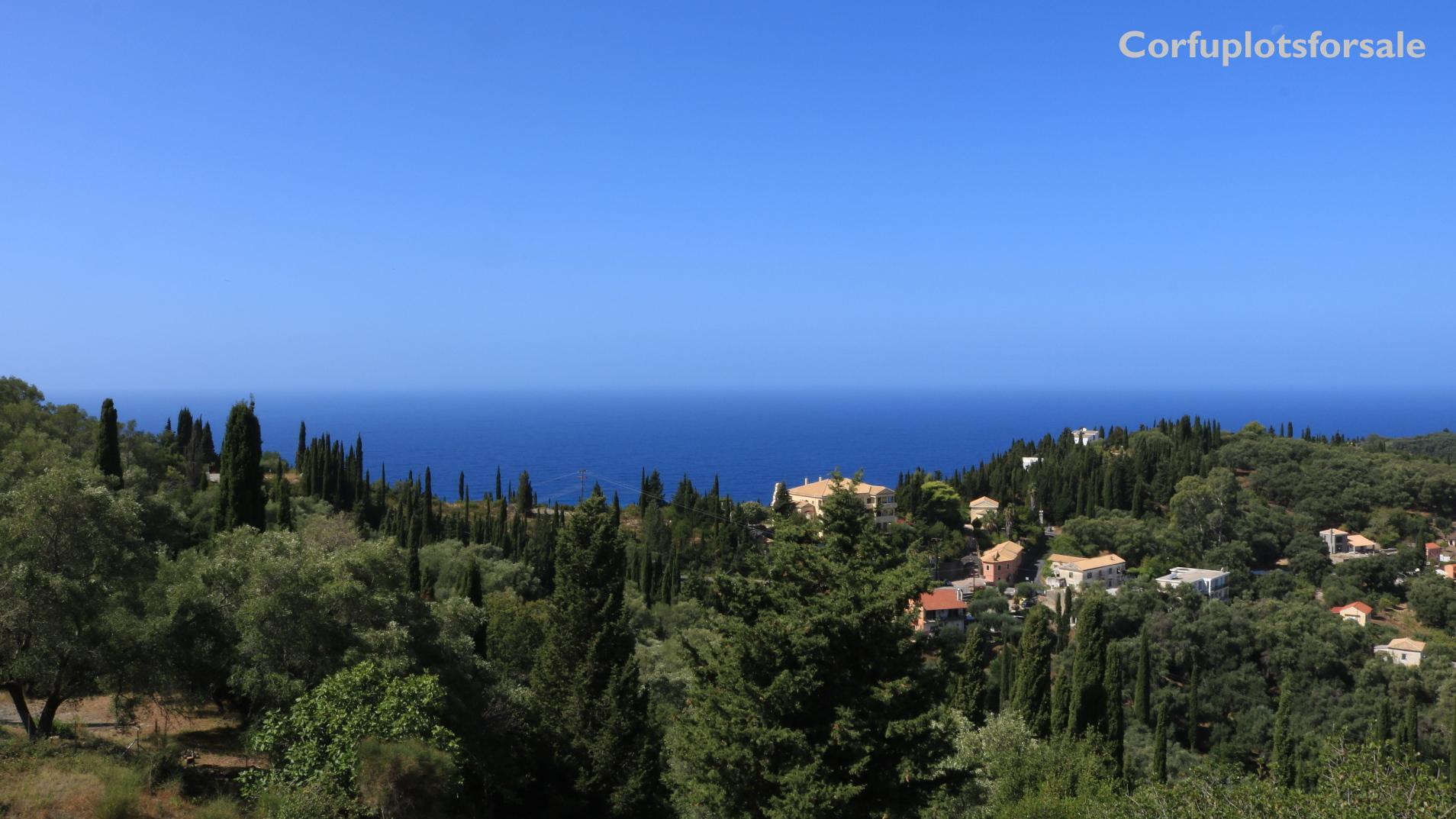 Plot in Kamara, Corfu (amazing view of the island)