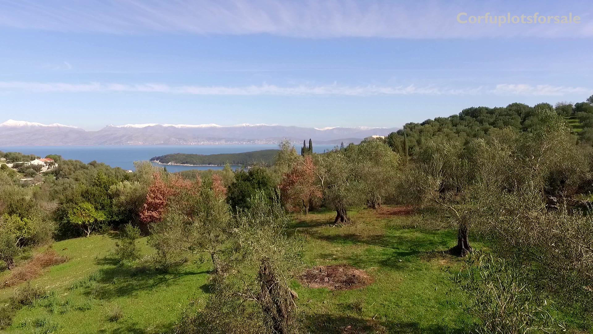 Land for a private villa in North East Coast of Corfu – 900m from Avlaki beach