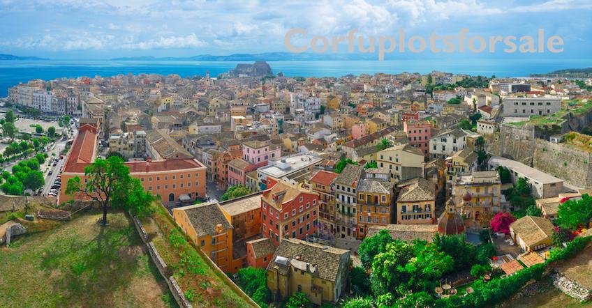 Panoramic view of Corfu town