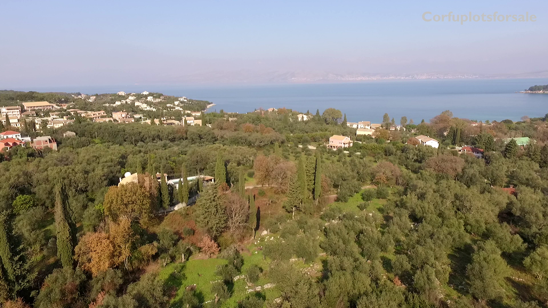Large and attractive property of land in North-East Coast of Corfu