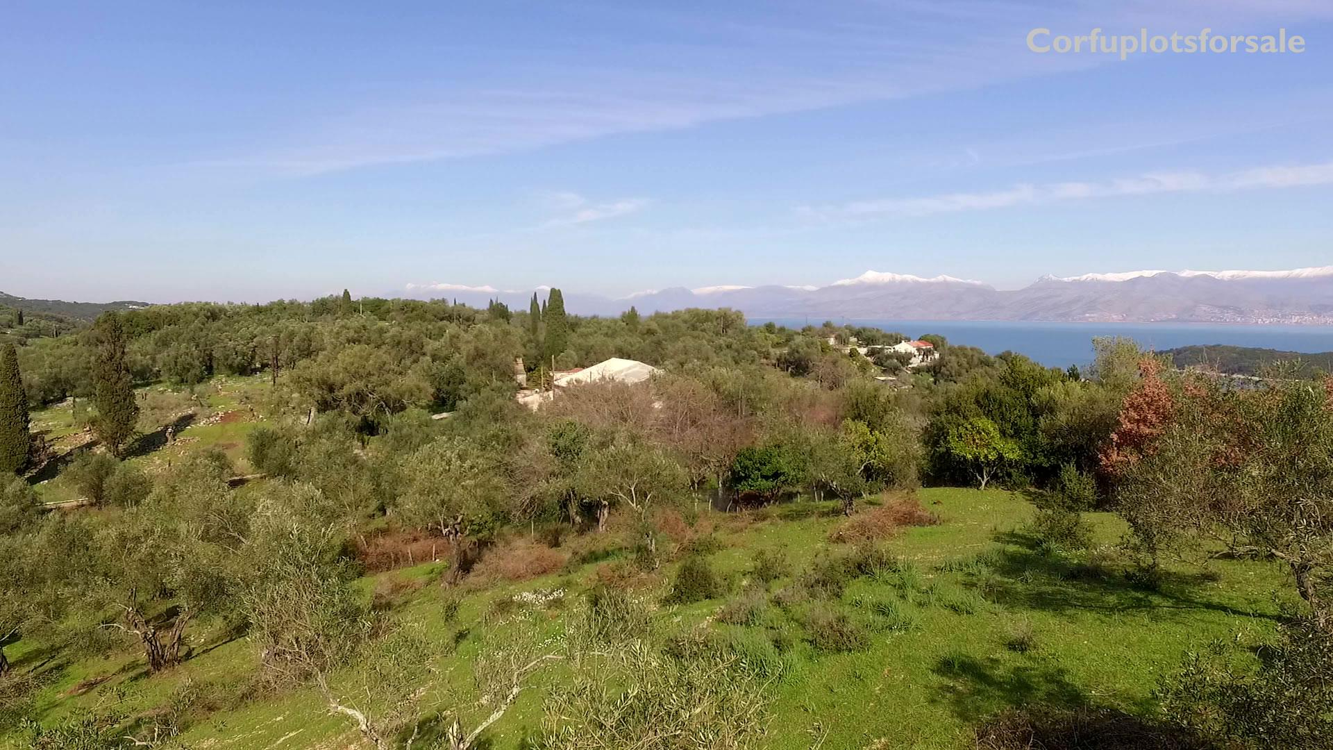Land for a private mansion in North East Coast of Corfu – 900m from Avlaki beach
