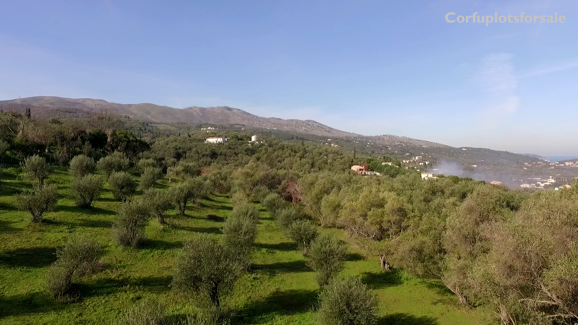 View to Avlaki and Erimitis piece of land for sale close to the beach