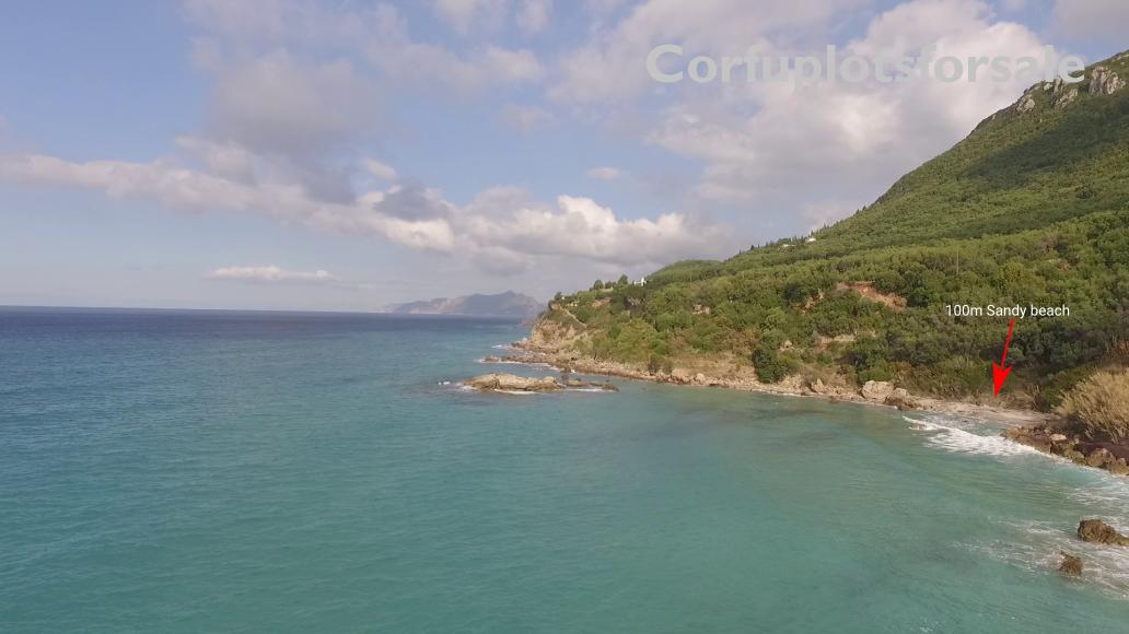 1400 Sq.m.Plot in Pentati Corfu (100m from the beach)