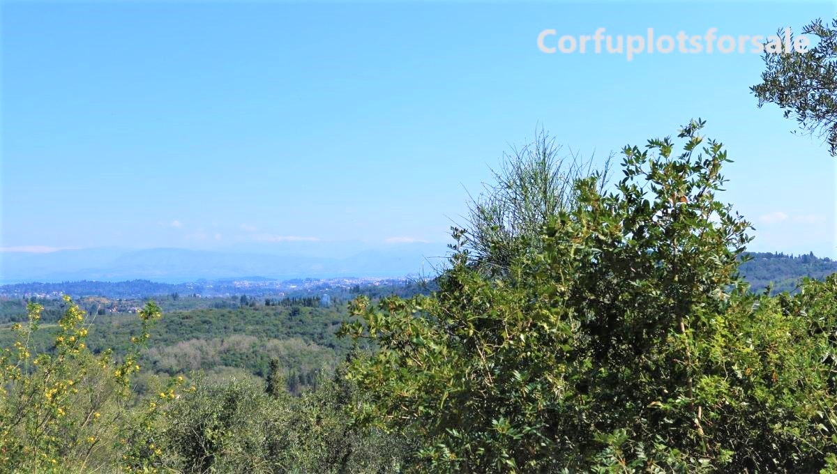 Easy to build plot in Pelekas area with view