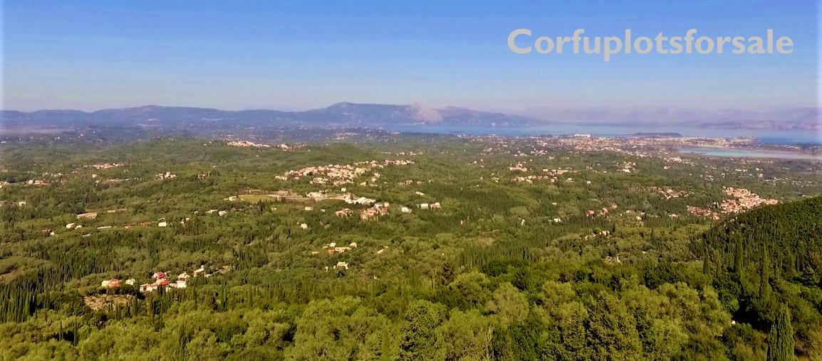4606.27 Sq.m. Plot in Kamara Corfu (amazing view of the island)