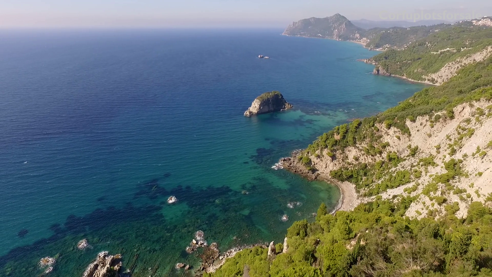 Amazing view plot up of a hill in West Corfu