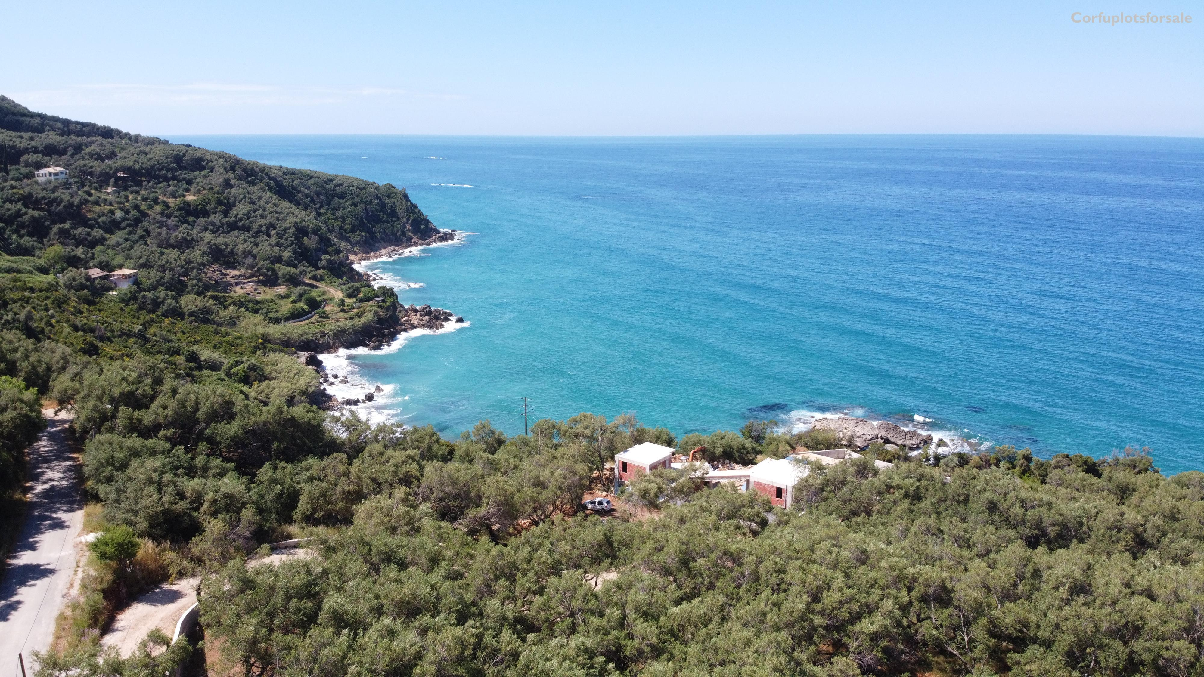 Beautiful sea view from a plot at the Western side of Corfu