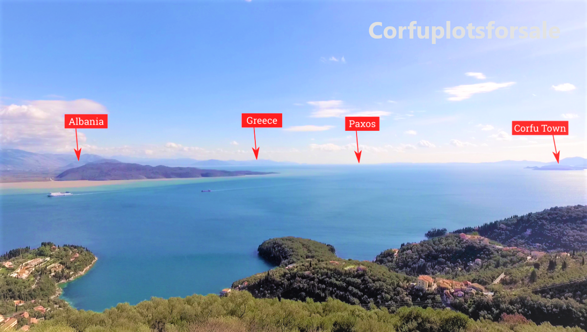 Property of land with outstanding view in a quiet area