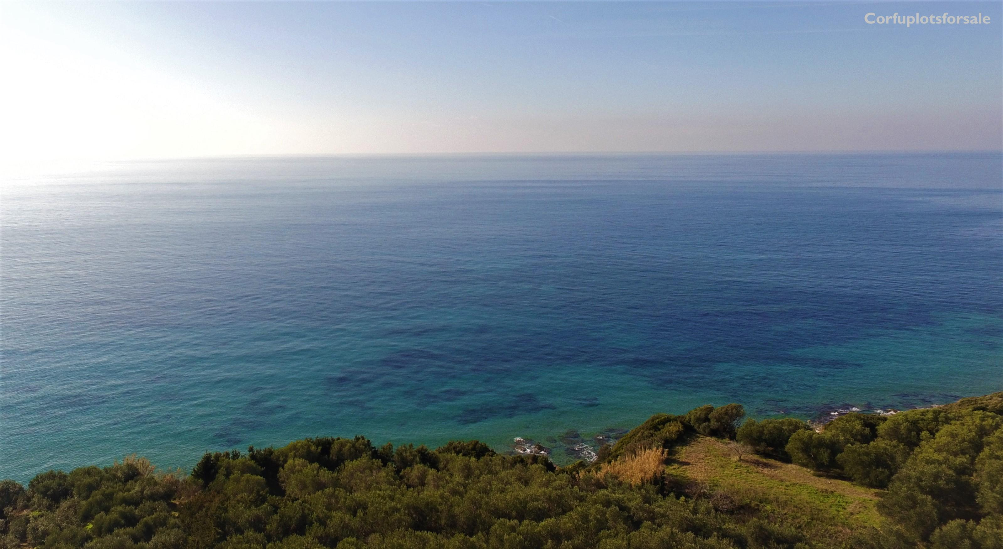 Huge piece of land with an olive grove and outstanding view on the beach