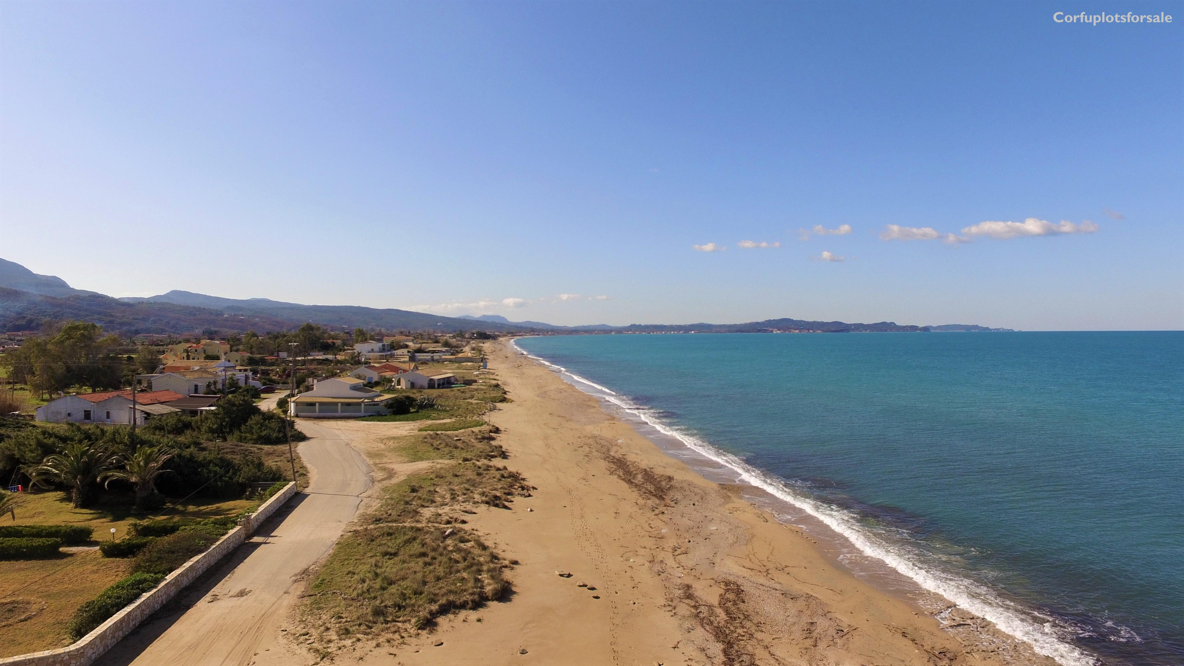 Amazing piece of land in front of the sandy beach of Almyros