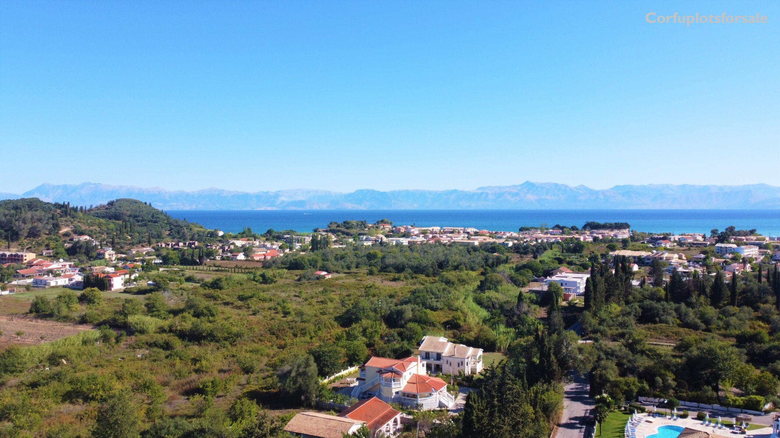 Land with wonderful sea view of Sidari