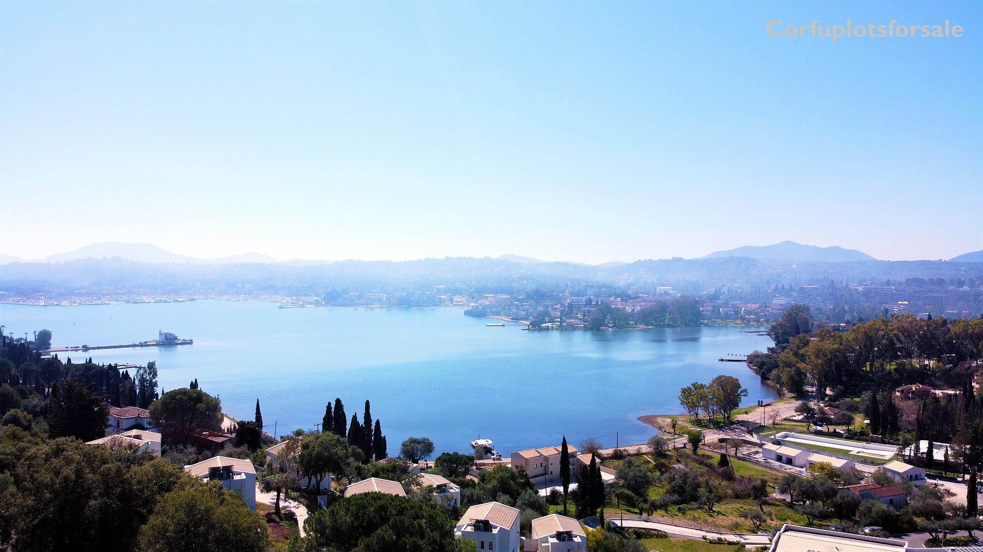 Wonderful piece of land on a hill with view of Kommeno Beach and Marina Gouvia.