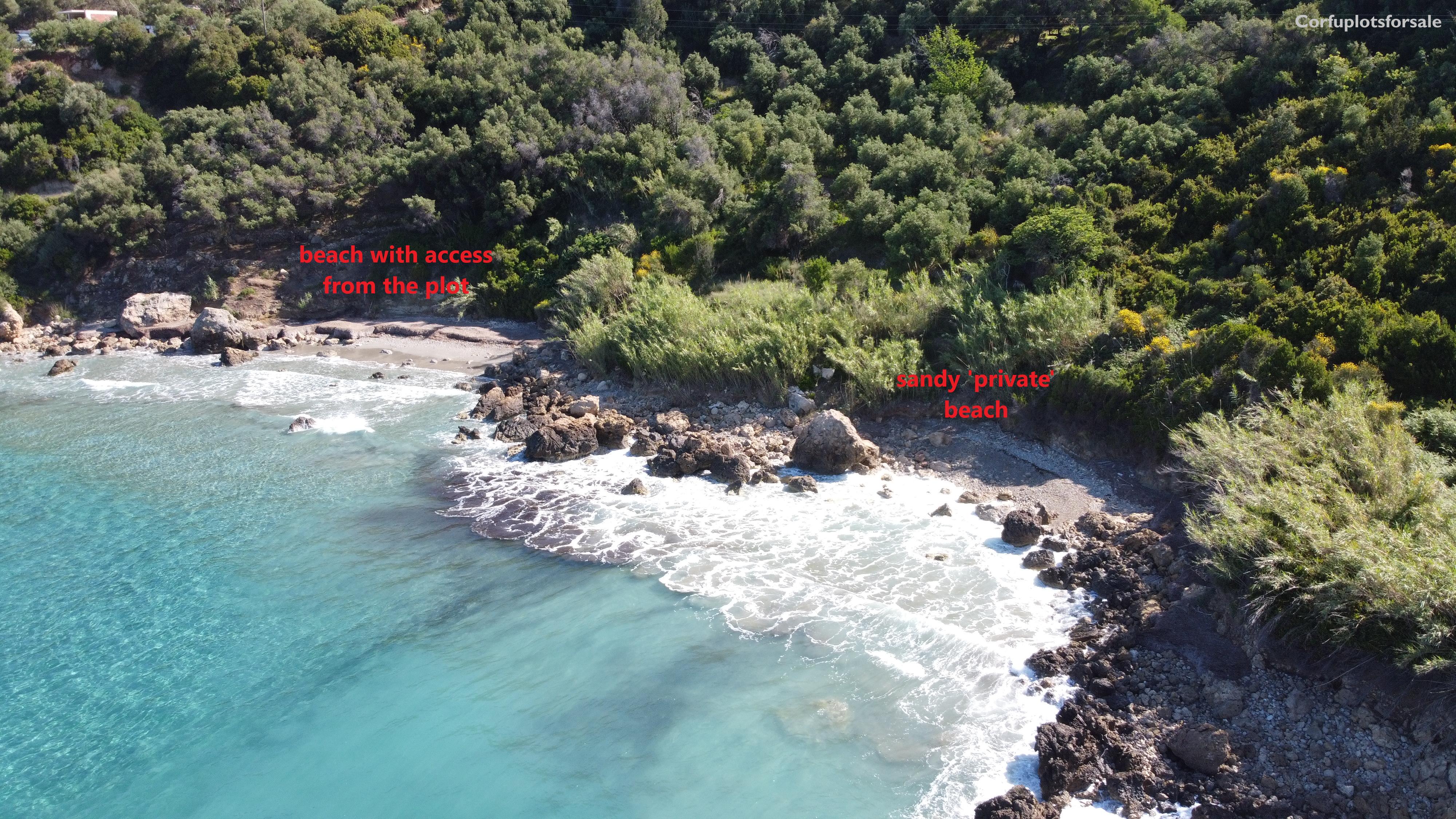 A rare plot with 'private' beach