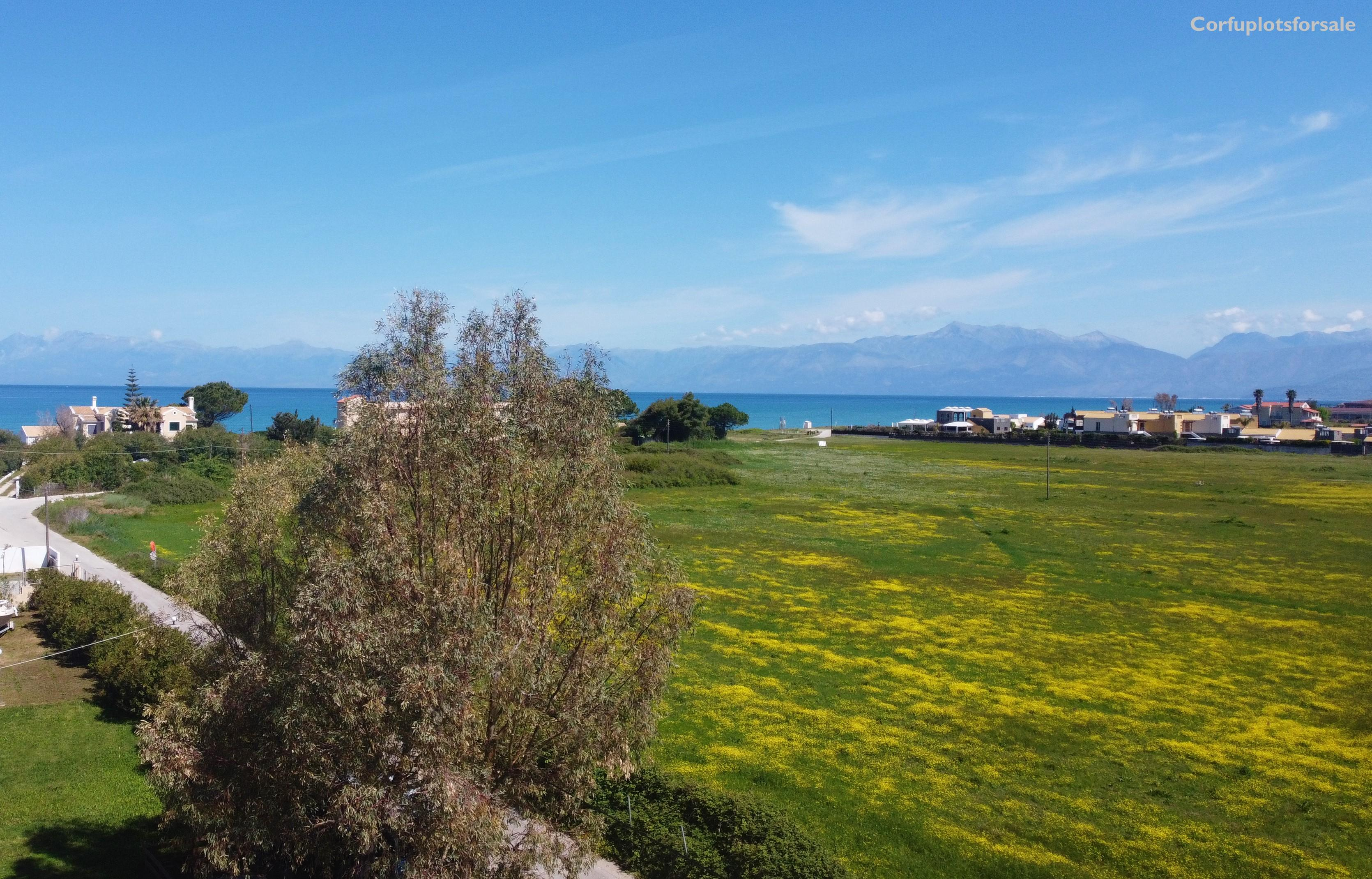 Level part of land 220m from the beach